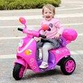 El nuevo coche eléctrico de Los Niños motocicleta eléctrica de tres ruedas del cochecito de bebé de juguete coche de control remoto puede llevar a la gente libre
