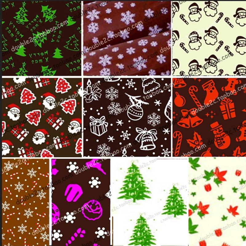 Chocolate Transfer Sheet 10pcs Christmas Mix Transfer