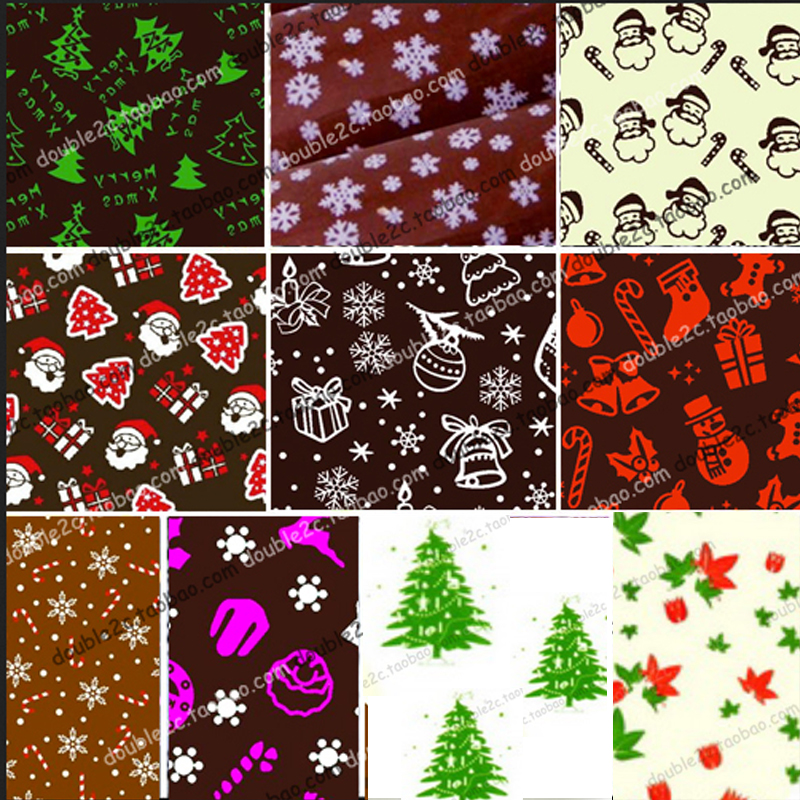 Us 87 33 Offchocolate Transfer Sheet Of Christmas Pattern Mixed Chocolate Mold Transfer Sheets Cake Decoration Food Chocolate Transfer In Baking