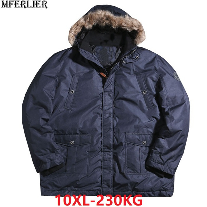 d407c8b42f8 men parkas coat trench thick warm winter jackets large plus size big 7XL  8XL 9XL 10XL