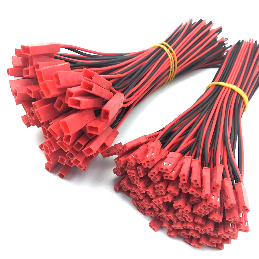10pair lot 150mm Male Female Connector JST Plug Cable For RC BEC Battery Helicopter DIY FPV Drone 2 Pin Connectors Terminals in Connectors from Lights Lighting