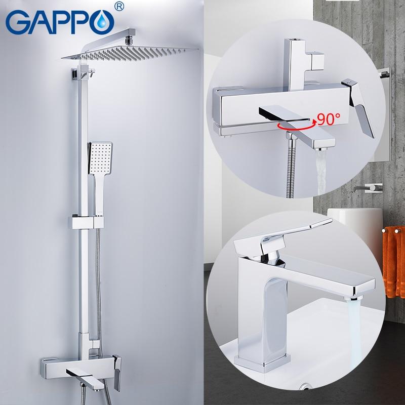 GAPPO sistema doccia doccia a parete miscelatore doccia in ottone rubinetto miscelatore a parete montato bagno miscelatori Bagno Doccia Set