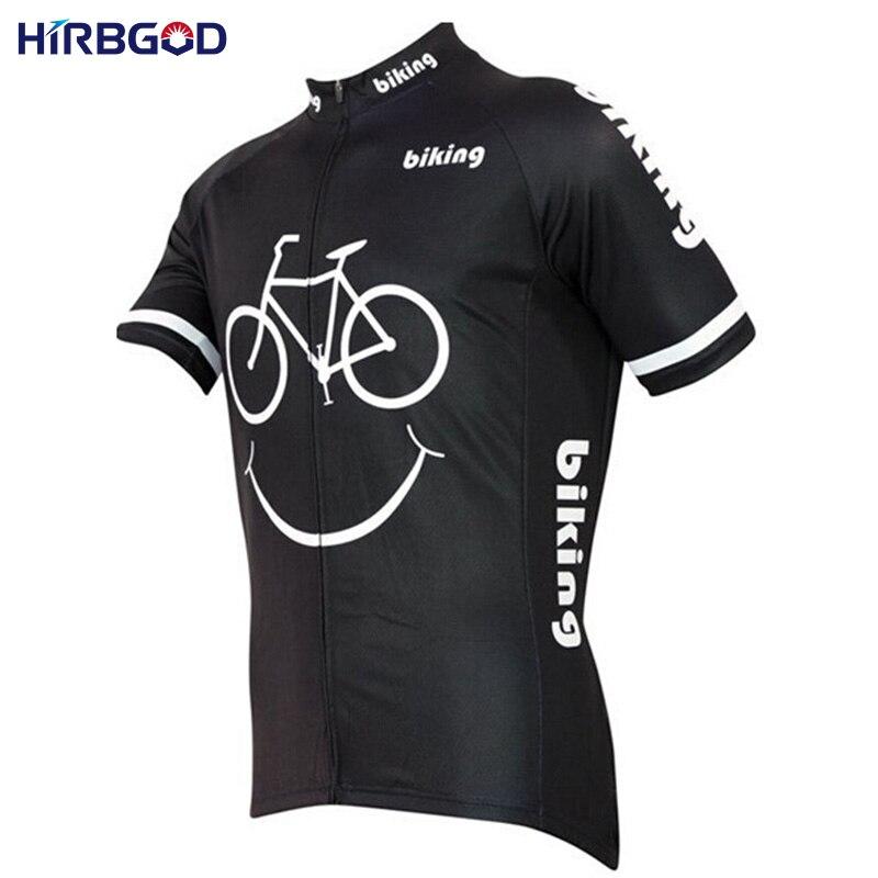 Prix pour HIRBGOD Smiley Bande Dessinée Classique Rétro Vélo Jersey Hommes D'été Vtt Dh À Manches Courtes À Séchage Rapide Respirant Vélo Vêtements Chine, HI159