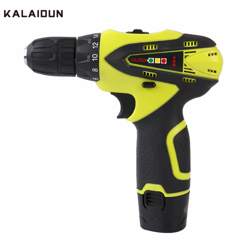 KALAIDUN 12V DC Electric Drill Power Tools Electric Screwdriver Lithium Battery Cordless Drill Mini Drill kalaidun 12v dc electric drill power tools electric screwdriver lithium battery cordless drill mini drill