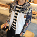 Spring Autumn 2017 Men's Jackets Fashion Coats Male Casual Slim Flower Print Thin Jacket Men Outerdoor Overcoat M-XXXXL 90180