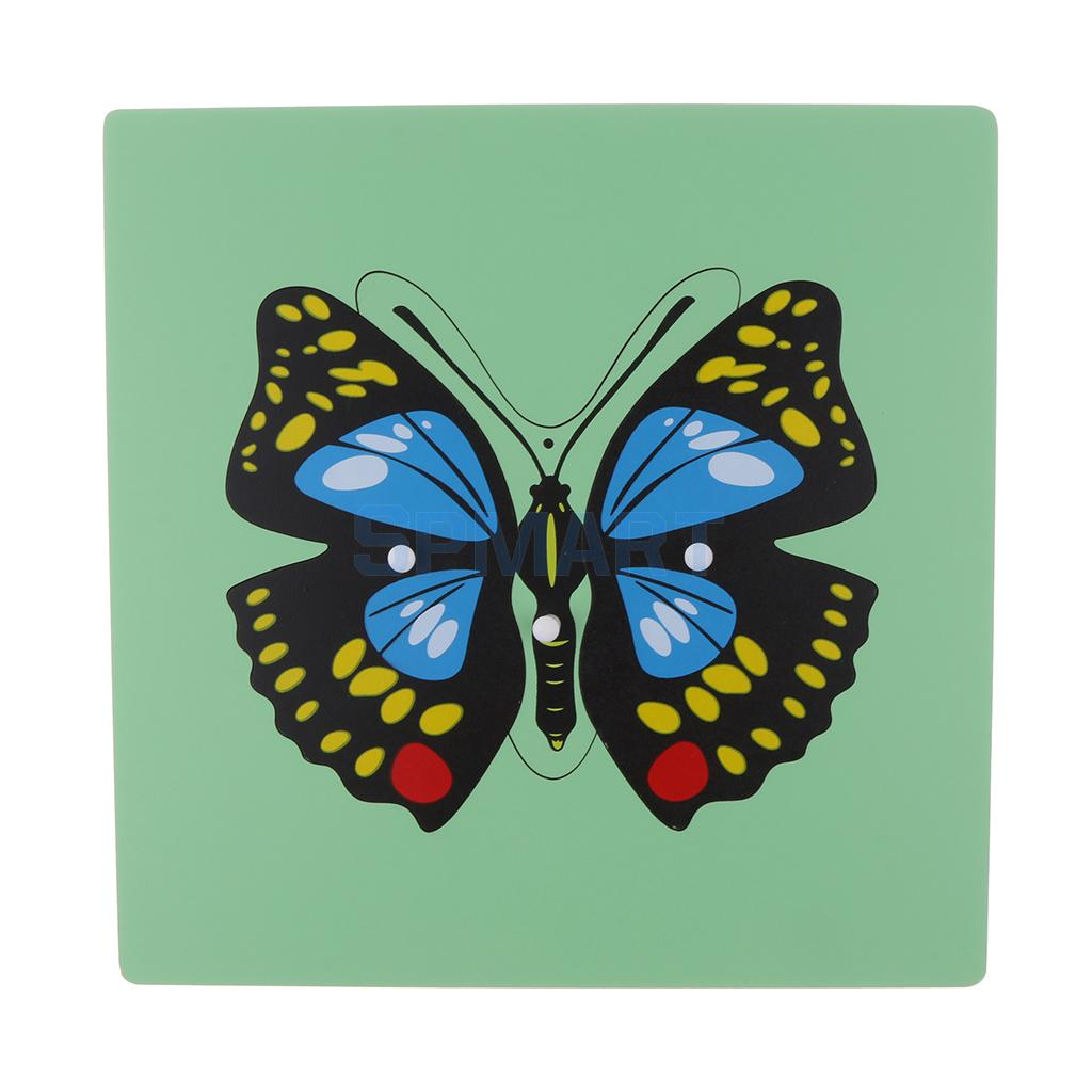 Montessori Wooden Animals Butterfly Puzzle Panel Jigsaw - Developmental Kids Early Cogniton Brain Training Toy Xmas Gift