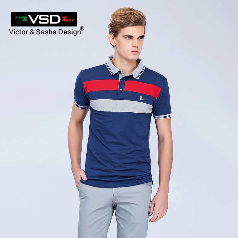 VSD 2017 Summer New Tops Casual Cotton Slim Fit Men   Polo   Shirts Short Sleeve Turn Down Collar Famous Brand Men's   Polo   Homme Y620