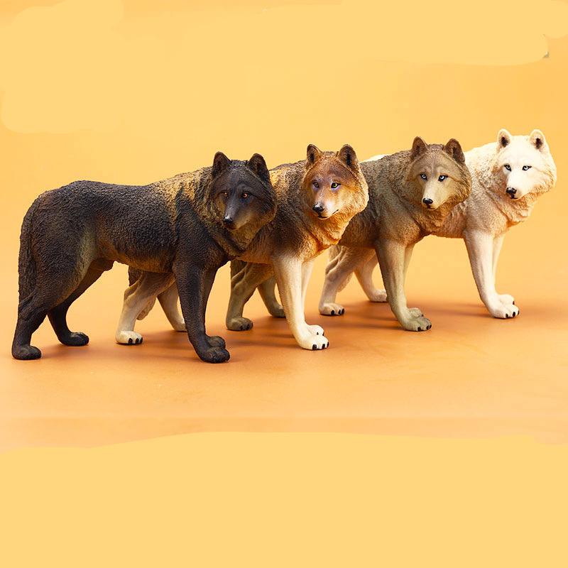 Animal-Model Wild-Wolfhound-Figures 20cm Simulates Early-Education-Props Male Large Children's
