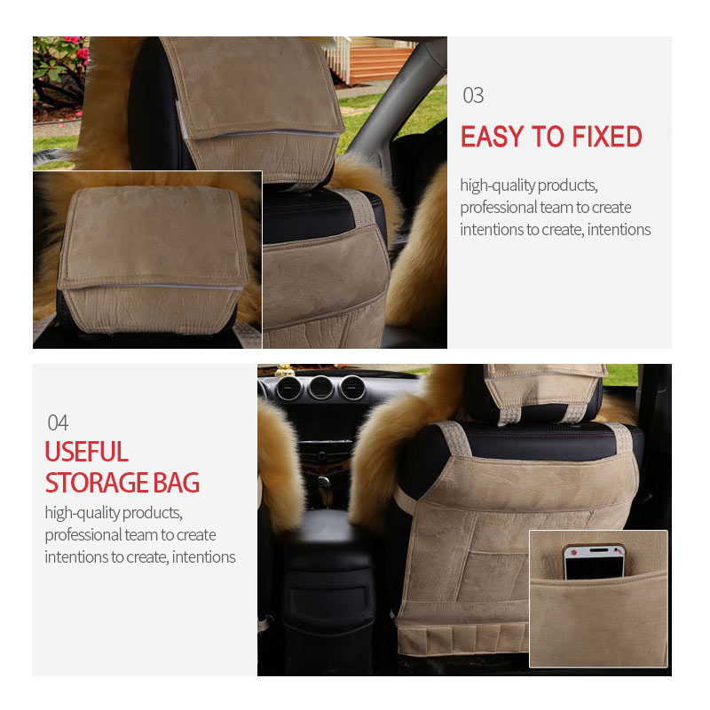 Car Seat Cover Long Wool Winter Universal Sheepskin Fur Front Cushion Natural Covers Styling Auto Interior Accessories In Automobiles