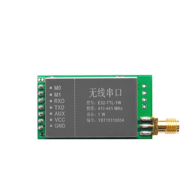 1PCS Free shipping  E32-TTL-1W SX1278 7500m UART 30dBm TTL 433MHz RF tx/rx wireless transmitter and receiver transceiver module