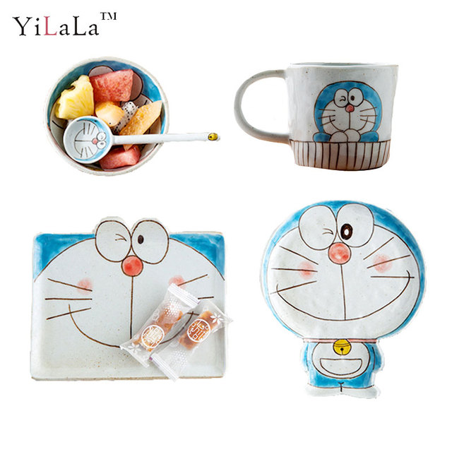 Yilala Ceramic Dinner Plates Doraemon Plate Dish for Kids Cute Cartoon Bowl Porcelain Dishes Tableware Children  sc 1 st  AliExpress.com & Yilala Ceramic Dinner Plates Doraemon Plate Dish for Kids Cute ...