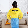 COULHUNT 2017 Boys Girls Pajamas Kids Pikachu Stitch Dinosaur Minions Animal Cosplay Costume Child Winter Warm Flannel Sleepwear