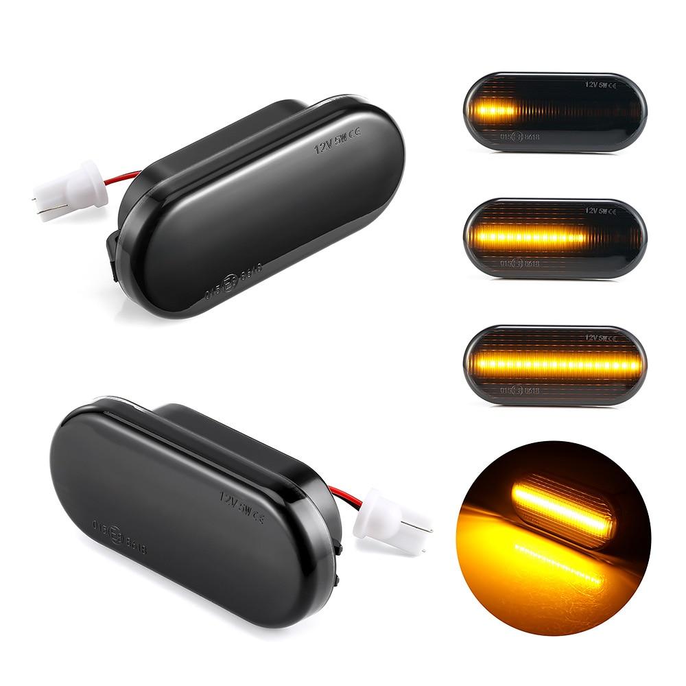 2 peças Dinâmico LED Side Marcador de Turno Sinal Luzes Âmbar Para VW Golf Passat 3 4 3B 3BG Polo 6N 9N Lupo Bora Sharan Vento