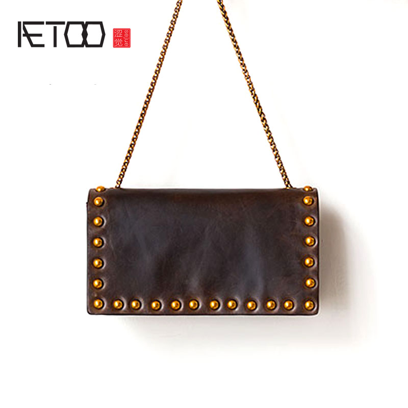 AETOO New leather messenger bag lady shoulder mini bag summer simple wild retro chain 2016 new summer collectionkorean handbag shoulder bag mini chain bag simple portable strap125cm woman bag