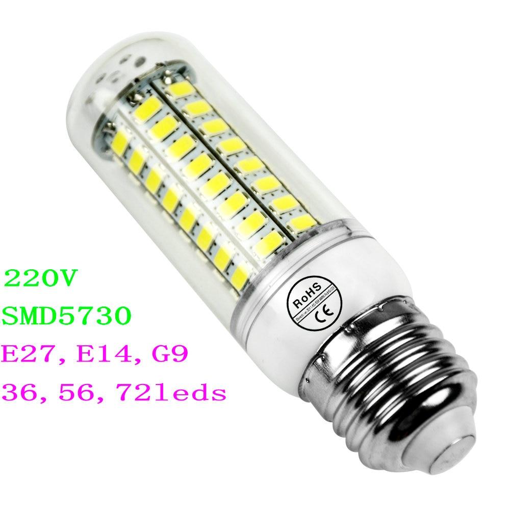 100 smd5730 led chip e27 e14 g9 lamp corn light 36 56 - Bombillas g9 led ...