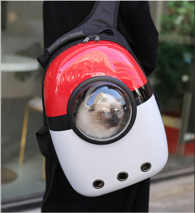 Breathable Cat Dog Space Capsule Pet Cat Dog Backpack Window For Kitty Puppy Small Cat Dog Carrier Transport Outdoor Travel Bag