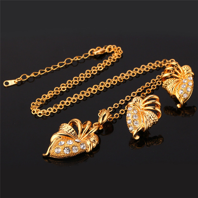 U7 rhinestone pendant set gold color fashion jewelry wholesale u7 rhinestone pendant set gold color fashion jewelry wholesale unique design jewelry set for women s572 in jewelry sets from jewelry accessories on aloadofball Gallery