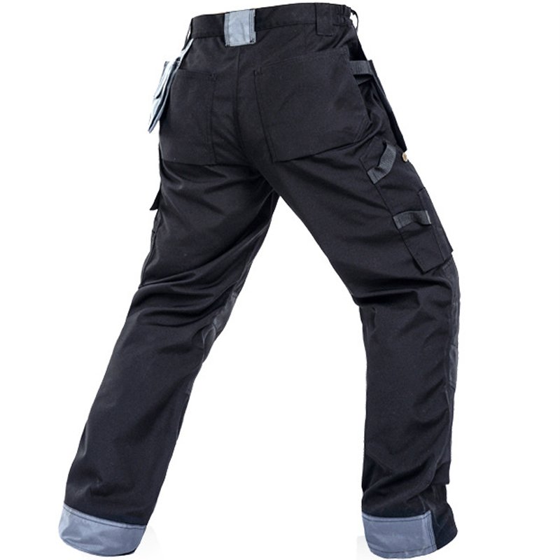 Image 2 - 2019 New Men Working Pants Multi Pockets Work Trousers With Removable Eva Knee Pads Top Quality Worker Mechanic Cargo Work Pants-in Safety Clothing from Security & Protection