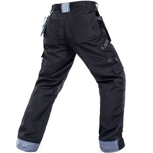 Image 2 - 2020 New Men Working Pants Multi Pockets Work Trousers With Removable Eva Knee Pads Top Quality Worker Mechanic Cargo Work Pants