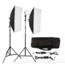 Hot Sale LED Photography Photo Studio Lighting Kit Photo Video Equipment Softbox Light Tent Set with carrying bag capsaver 2 in 1 kit led video light studio photo led panel photographic lighting with tripod bag battery 600 led 5500k cri 95
