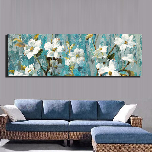 Modern white flowers canvas paintings for living room abstract pear modern white flowers canvas paintings for living room abstract pear flower wall art posters and prints mightylinksfo