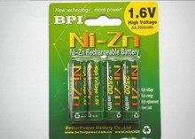 4pcs/lot Original BPI AA 2500mWh 1.6V 1.5V NI-Zn Battery charge batteries