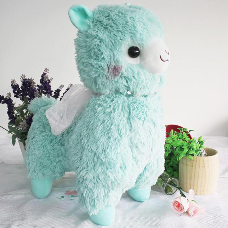 50cm Peluche Alpacasso Alpaca 4 Colour Sheep Soft Doll Stuffed Plush Animal Toy For Baby Girls Kids Lover Children Birthday Gift 12cm alpaca plush lamb stuffed animal doll cute alpaca stuffed animal toys alpaca animal sheep cell accessories