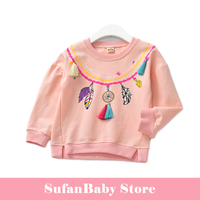 Kids Clothing t shirt girls tops long sleeve pullover sports T-shirts children girl baby sweatershirts top Child Clothes