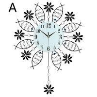 1 шт. Современный Простой качели часы настенные часы гостиная часы арт mute кварцевые часы Европейский спальня висит часы большой LU619435