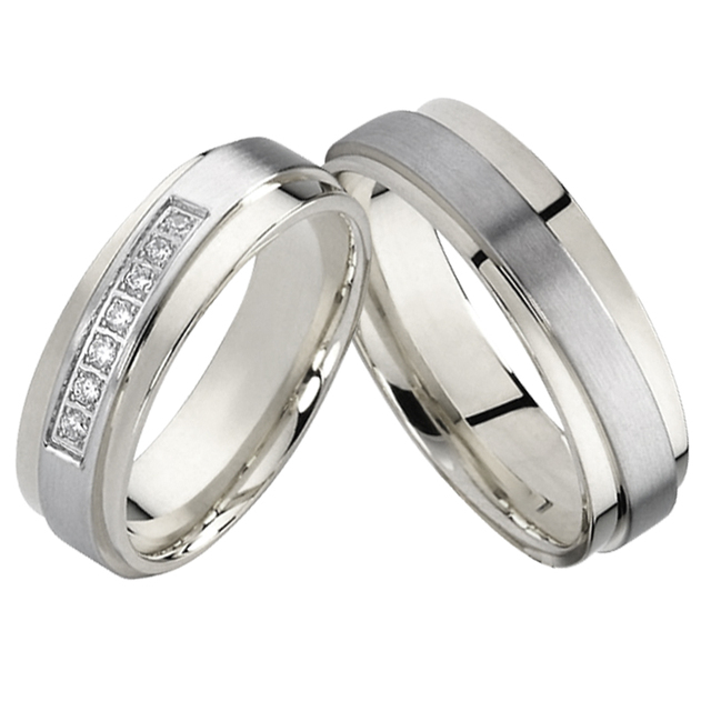 Anniversary Wedding Band Mens Jewelry Couple Ring pair bridal set titanium Promise Engagement Rings for Women