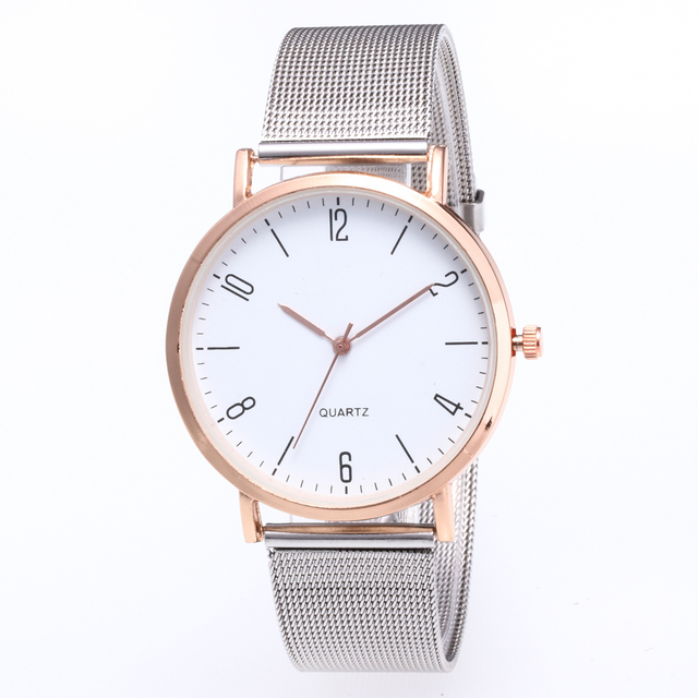 d2ef5bdcc37 Nova Famosa Marca de Prata Casual Quartz Watch Mulheres Vestido Relógios  Relogio feminino Relógio de Pulso de Aço Inoxidável de Malha de Metal Venda  Quente