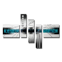 High quality abstract decorative paint canvs wall art paintings of 5 pieces for modern living room wall decorating