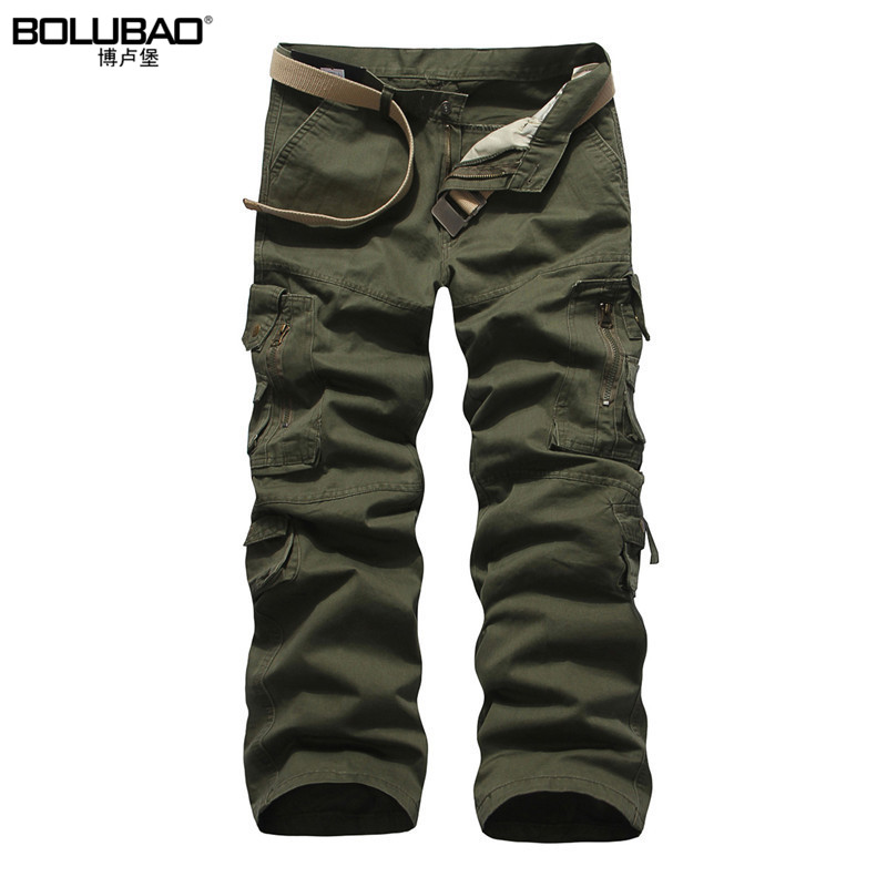 2017 New Arrival Brand-Clothing Mens Cargo Pants Fashion Solid Color Military Men Pants Quality Cotton Casual Pants Men
