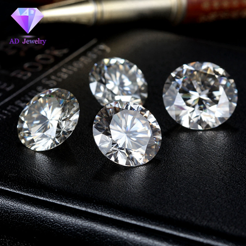 4 mm DEF Start Cut White Moissanite Stone Loose Moissanite Diamond 0.3 carat for Jewelry