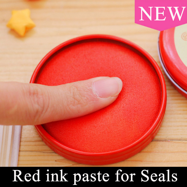 Chinese Ink pad  Painting Red Ink Paste for Stamp Seal Yinni Pad Art Calligraphy Painting Supplies