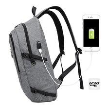 Nueva llegada Mochila Portátil de 15.6 pulgadas con interfaz USB Bolsas de la Escuela Mochila Mochila de Viaje Ligero de los hombres ocasionales