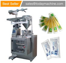 4 sides stick type seal liquid automatic ketchup filling packaging machine hair gel sachet packing