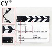높은 품질 아크릴 했 보드 모두 중국어 영어 흑백 Clapperboard입니다 영화 액션 슬레이트 필름 Clapperboard입니