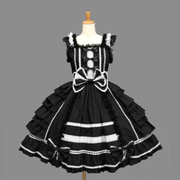 A28 Japan palace snow spinning lace bowknot cosplay lolita dress halloween party costume