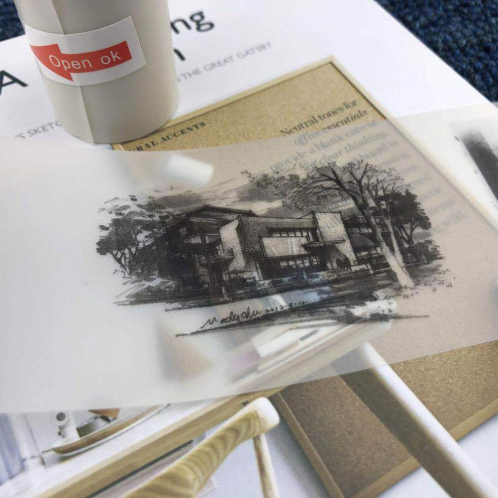 Новое поступление 57x30 мм полупрозрачная термопечать рулон бумаги для бумаги ang фотопринтер