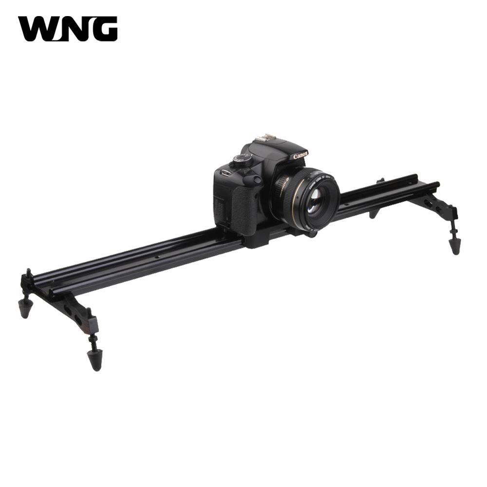 60cm/80cm 31.5in Aluminum Alloy Compact Video Slider Dolly Track Rail Stabilizer for Canon Nikon Sony Cameras Camcorders