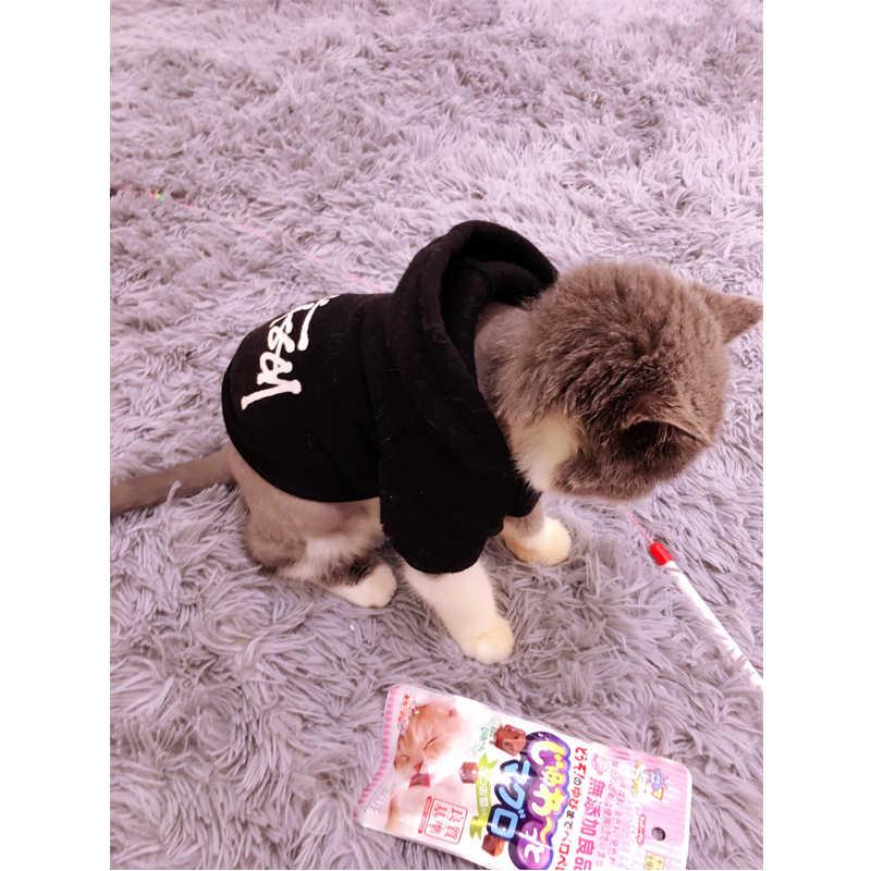 Cool Shuaichao Brand Black Fleece Cat Clothes Witer The Short Garfield Puppets Cat Pet Clothing Clothing Brand Clothing Petclothing Cat Aliexpress