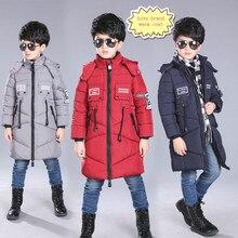 2016 детей мальчики школа стиль согреться зимой пальто куртки для 4-13 года дети мальчики марка одежды с карманом & hat b 26215