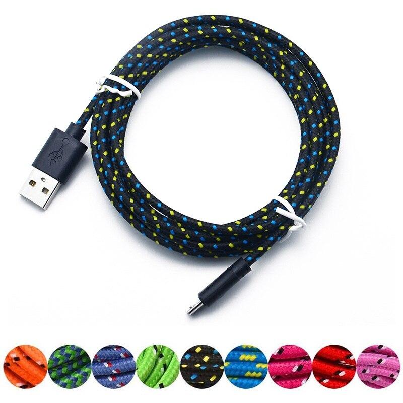 1 Mt Usb Ladegerät Kabel Hanf Seil Micro Usb Ladegerät Sync Daten Kabel Für Handy Drop Verschiffen