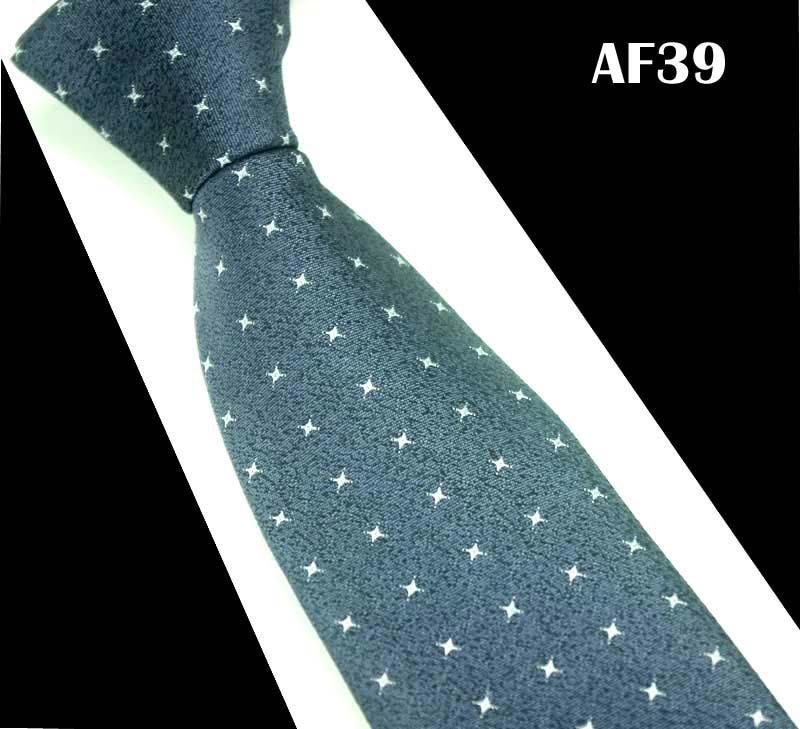 SCST Brand Design New Cravatae White Floral Print Blue Necktie Slim Wedding Neckties 7cm Silk Ties For Men Tie Gravata CR080