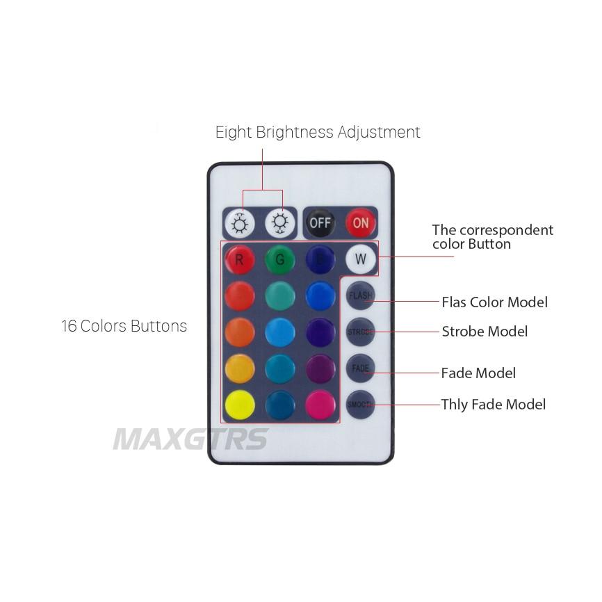Multi-warna 60mm 70mm 80mm 90mm 100mm 120mm Malaikat Mata 5050 RGB - Lampu mobil - Foto 3