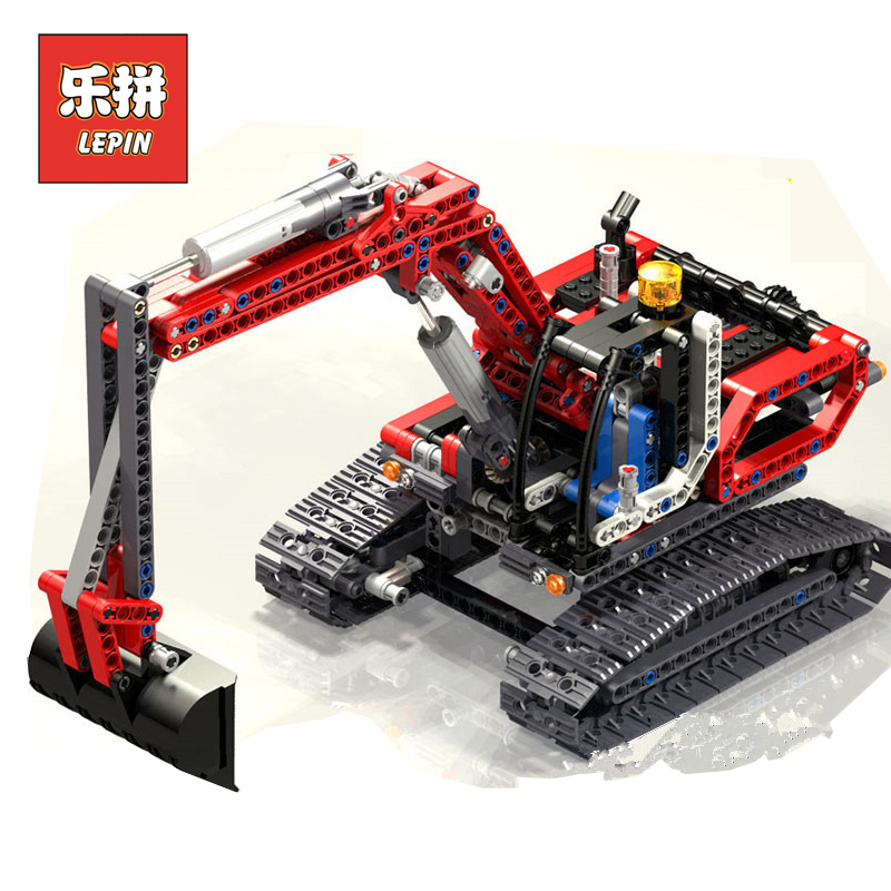 Lepin 20025 Technic Series City Construction Red Excavator Set Building Blocks Bricks Legoinglys Educational Toys Boys Gift 8294 lepin 20025 760pcs technic the red engineering excavator set building blocks bricks model toys christmas gifts compatible 8294