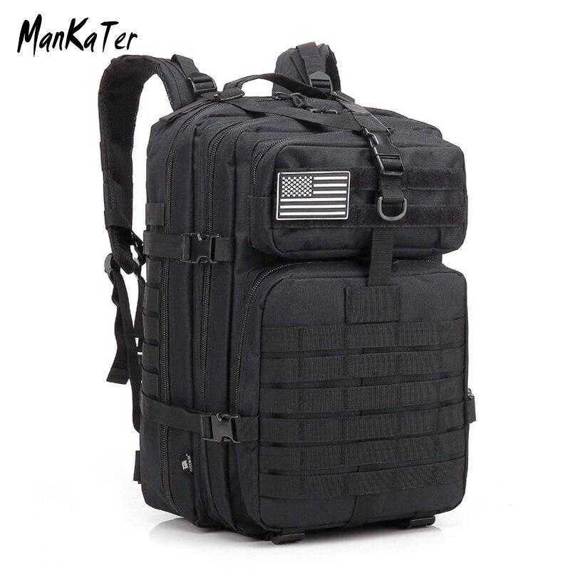 ManKaTer livraison gratuite militaire tactique sac à dos grande armée 3 jours assaut Pack Molle Bug Out sac 45L