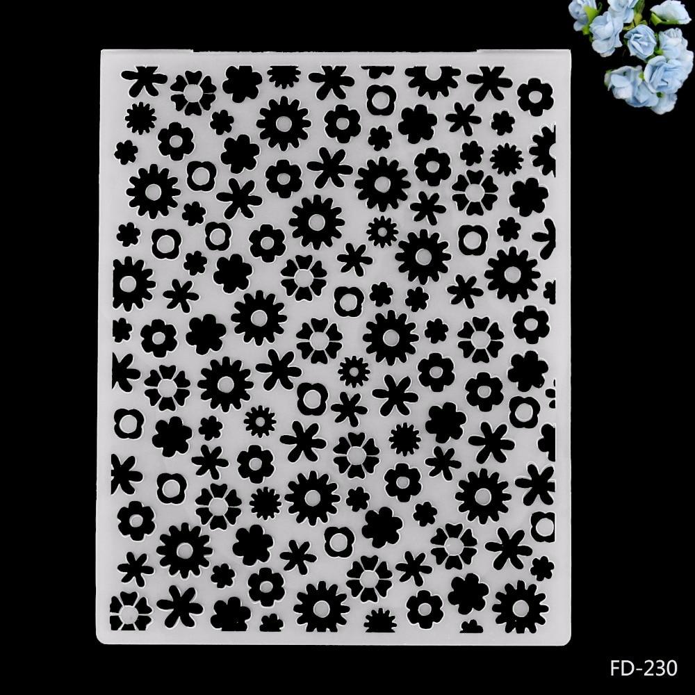 2019 New Arrival Scrapbook Beautiful Flowers Design DIY Paper Cutting Dies Scrapbooking Plastic Embossing Folder