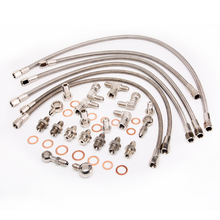 Kinugawa Turbo Oil and Water Line Kit for Nissan RB26DETT Skyline GTR w/ Stock TB25 Journal Bearing Twin Turbo